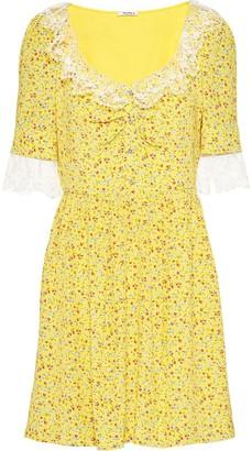 Miu Miu Marocain floral pattern dress