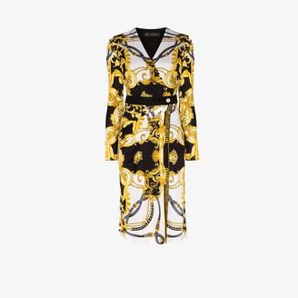 Versace Rodeo Queen Baroque print wrap dress