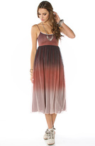 Motel The Maude Ombre Midi Dress in Rust
