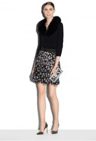 Milly Couture Cheetah Jacquard Modern Mini Skirt