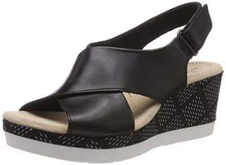 Clarks Women's Cammy Pearl Closed Toe Sandals, (Black Leather