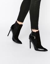 Paper Dolls Ryder Black Patent Heeled Chelsea Boots