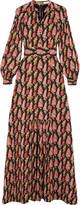 Vilshenko Anais floral-print silk-georgette maxi dress