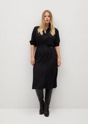 MANGO Midi modal dress