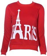 Changeshopping Women Eiffel Tower Long Sleeve Printed Pullover Sweatshirts (US 6)