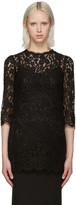 Dolce & Gabbana Black Lace Blouse