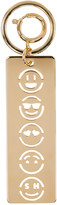 Sophie Hulme Gold Face Stencil Keychain