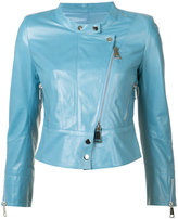 Sylvie Schimmel collarless biker jacket