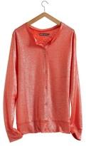 Petit Bateau Women's linen and lacquered linen cardigan.