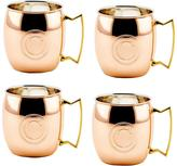 Old Dutch Monogram C 16 oz. Solid Copper Moscow Mule Mugs (Set of 4)