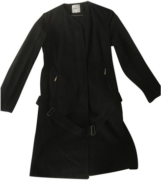CNC Costume National Black Cotton Coat for Women
