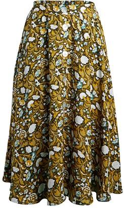 Catherine Malandrino Floral Midi Skirt