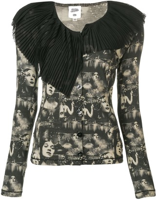 Jean Paul Gaultier Pre Owned Faces Printed Cardigan