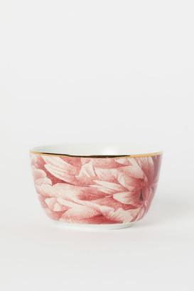 H&M Patterned Porcelain Bowl - Pink