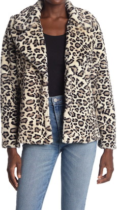Love Token Maverick Leopard Print Faux Fur Coat