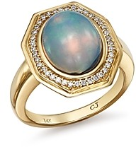 Bloomingdale's Ethiopian Opal & Diamond Cocktail Ring in 14K Yellow Gold - 100% Exclusive