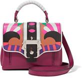 Paula Cademartori Dun Dun Mini Appliquéd Leather Shoulder Bag - Plum