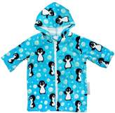 Back Beach Co Blue Penguin Hooded Towel Robe 0-24 mths