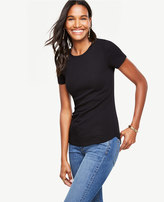Ann Taylor Ribbed Pima Cotton Tee