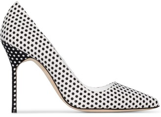 Manolo Blahnik BB 105mm polka dot pumps