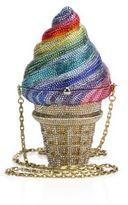 Judith Leiber Rainbow Crystal Ice Cream Cone Minaudiere