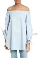 Tibi Women's Off The Shoulder Cotton Tunic