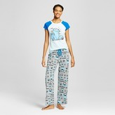 Sesame Street Women's Late Night Munchies Cookie Monster Tee/Pants Pajama Set