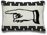 Jonathan Adler J'Accuse Right Needlepoint Throw Pillow