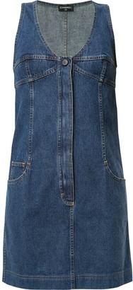 Chanel Pre Owned Denim Mini Dress