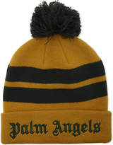 Palm Angels Striped Bobble Beanie