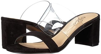 42 GOLD Liya (Clear/Black Suede) Women's Sandals
