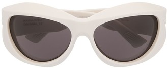 Bottega Veneta Oval Frame Sunglasses