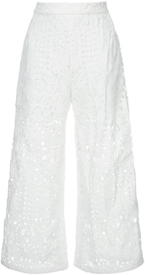 Markus Lupfer lace cut-out trousers