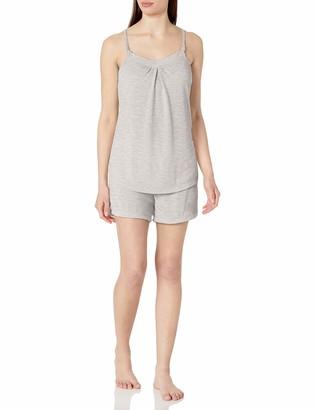 Belabumbum Women's Summer Maternity and Nursing Cami/Short Pajama Set