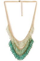 Forever 21 Ombre Glass Bead Necklace