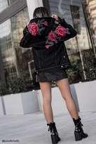 Forever 21 FOREVER 21+ Floral Patch Denim Jacket