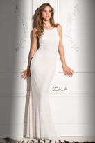 Scala 48703 High Neck Sequins Prom Dress