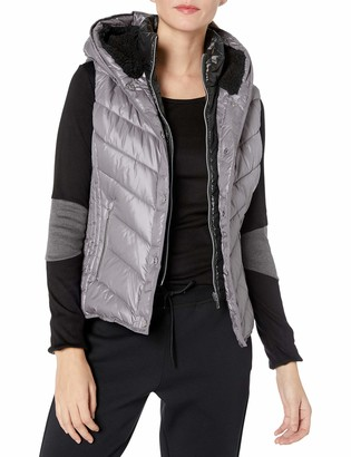 Andrew Marc Women's Marc Ny Performance Systems Puffer Vest W/ Sherpa Lined Hood
