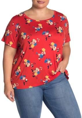 Halogen New Step Crew Neck T-Shirt (Plus Size)