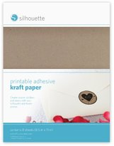 Silhouettes Silhouette Printable Adhesive Kraft Paper