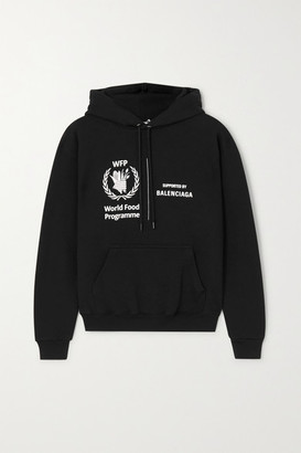Balenciaga + World Food Programme Printed Cotton-jersey Hoodie