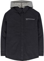 Hurley Boys 4-7 Hooded Button-Down Flannel Shirt