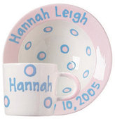 Personalized Dot Bowl & Cup Set