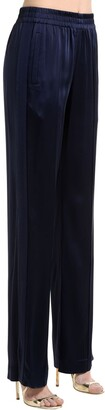 Jonathan Simkhai Stitch Satin Pants With Side Slits