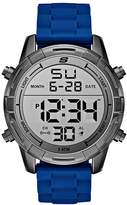 Skechers Men's 'Open Fashion Digi' Quartz Metal and Silicone Casual Watch, Color:Blue (Model: SR5085)
