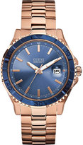 Guess W0244g3 Plugged In Rose Gold-toned Watch