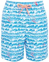 John Lewis Boys' Surfer Print Board Shorts, Blue