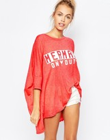 Wildfox Couture Oversized T-Shirt With Mermaid Print
