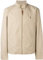 Polo Ralph Lauren band collar zipped jacket - men - Cotton/Nylon/Polyester - M