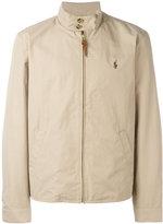 Polo Ralph Lauren band collar zipped jacket - men - Cotton/Nylon/Polyester - XXL
